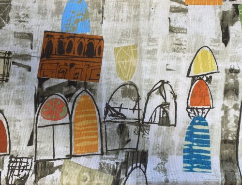 Adding Universal Shapes to the Experimental Mixed Media Painting